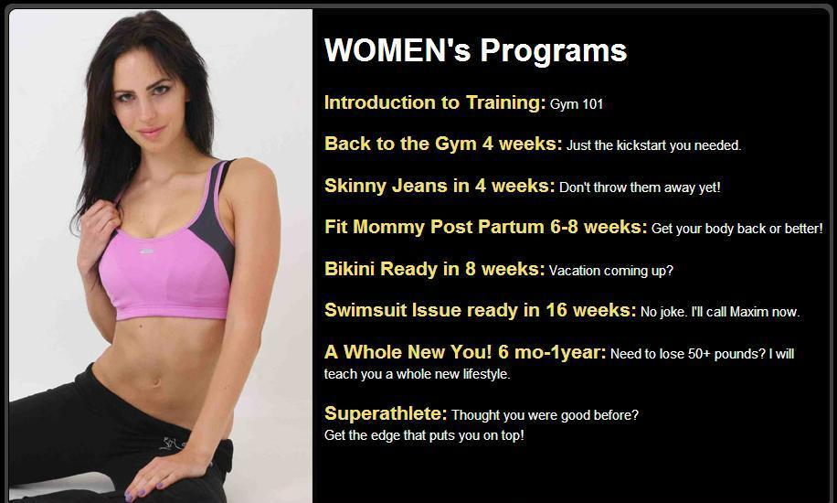 woman personal trainer Woodland Hills